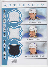 2012-13 Artifacts Tundra Trios Jerseys Blue Backes/Stewart/Shattenkirk
