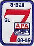 APA SKILL LEVEL 7 PATCH AMERICAN POOLPLAYERS 2008-2009