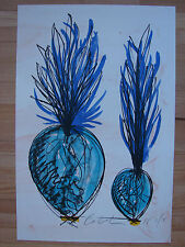 Original signed Dale Chihuly lithographic print large cobalt venetian 2