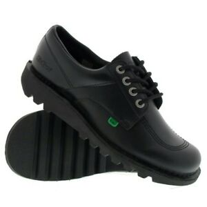 Kickers Lo Mens Black Leather Shoes Sizes 6.5/8/9/10/10.5/11
