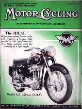 Jan 29 1959 MATCHLESS 'Model G3 350cc' Motor Cycle ADVERT - Magazine Cover Print