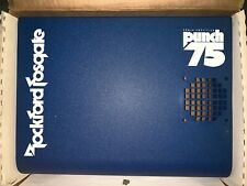 Rockford Fosgate Punch 75 amp shroud - new in box! Blue w/ White OLD SCHOOL!