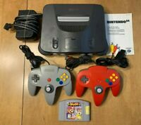 Nintendo 64 Bundle - w/ 2 Controllers, Super Smash Bros, and Cables