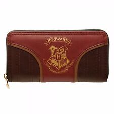 Harry Potter Gold Hogwarts Crest  Zip Around Wallet Satchel Clutch Purse