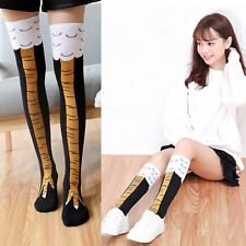 Women Funny 3d Chicken High Socks Cartoon Animals Thigh Stockings Creative Lot H