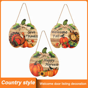 Thanksgiving Decoration Label Happy Word Welcome Door Listing