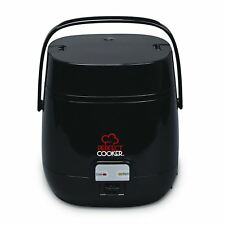 Perfect Cooker Black Electric 0.7L Non Stick Rice Cooking Pot Pressure Steamer