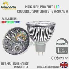 Regulador MR16 6W 9W 12W Rojo/Azul/Verde/Blanco Cálida/fría bombilla LED luz de color