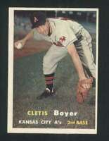 1957 Topps #121 Clete Boyer EX/EX+ RC Rookie Athletics 131699