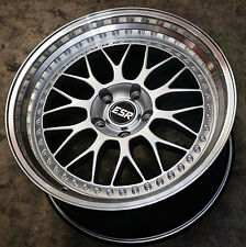 "4 Pcs 18"" ESR SR01 Silver Wheels 18x8.5 +30 5x120 Rims For Acura TL 2009-2014"