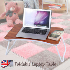 Folding Laptop Desk Portable Table Stand Computer Laptop Stand For Bed Sofa UK