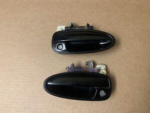 1994-2001 ACURA INTEGRA DRIVER PASSENGER SIDE DOOR HANDLE SET PAIR OEM BLACK
