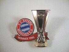 "UEFA Cup Sieger Pin FC Bayern München ""Winner 1996"" Cup Europa League EL"