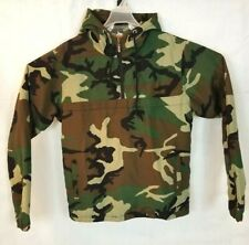 Russian Army Camo Jacket Cotton Military Fall Warm 1/4 zip Pullover sz M/L 52