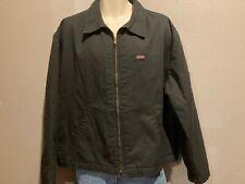 Men's DICKIES Eisenhower Black Work Shop Mechanic Quilted Lining Jacket Coat XL