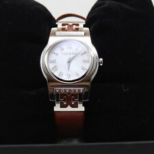 NEW AUTHENTIC ESCADA SOPHIA SILVER MOTHER OF PEARL BROWN WOMEN'S E3830011 WATCH