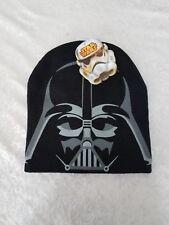 New STAR WARS Black Darth Vader Boys Knit Beanie Cap Disney Empire Dark Side