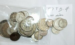 5.7 Troy Oz .800 Silver Content Coins Mixed Lot Asst Dates Grades Countries