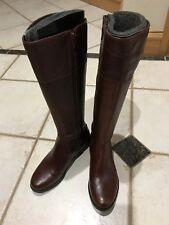 Rockport Women's Tristina Rosette Tall Wide Calf Boot Sugar Leather Boot Sz 6M