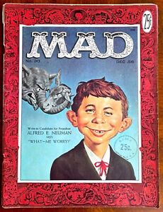 Mad Magazine #30 - Very Good Plus (4.5) - First Alfred E. Neuman cover!!  1956
