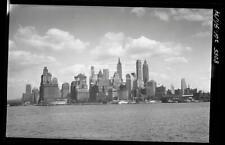 1934 Manhattan Skyscraper Skyline NYC New York City Old Photo Negative 17F