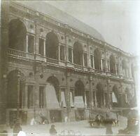 Italia Palais c1910 Foto Stereo Placca Da Lente VR12he
