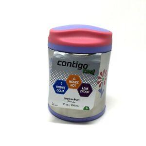 Contigo Kids Food Jar Thermal Lock Vacuum Sealed Hot Cold Leak Proof 10oz Purple