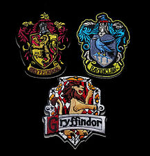 SET OF 3 HARRY POTTER GRYFFINDOR RAVEN EMBROIDERED SEW ON IRON ON  PATCH