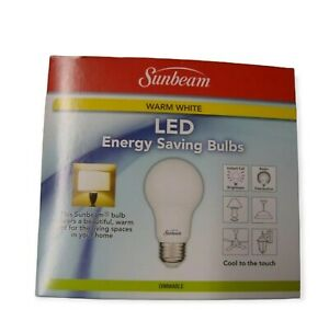 New 2 PK Sunbeam 1600 Lumens 14.5W LED Bulbs 100W Equivalent - Dimmable  A19