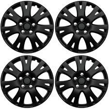 4 Pc Set Of 16 Matte Black Hub Caps Rim Cover For Oem Steel Wheel Covers Cap Fits Mustang