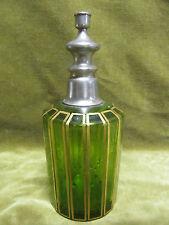 Aspersoir de toilette cristal vert saint Louis doré (crystal aspersorium)