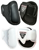 Equilibrium Tri-Zone Lightweight FETLOCK Showjumping Boots NEW Black/White M/L