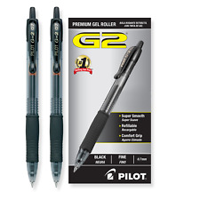 Pack of 2 PILOT G2 Black 0.7 Premium Gel Rollerball Pens w/ Fine Point Ink 2PCS
