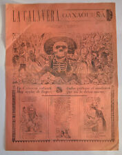 big Jose Guadalupe Posada Original Engraving  CALAVERA OAXAQUEÑA day of the dead