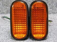 Honda Delsol CRX Integra DC DB Civic EK EG Orange Side marker Light Set OEM