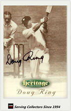 1996 Futera Cricket Heritage Collection Signature Card NO10 Doug Ring