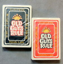 Playing Cards Game Vintage GamBridge 1970s Old Guys Rule Factory Factory Sealed
