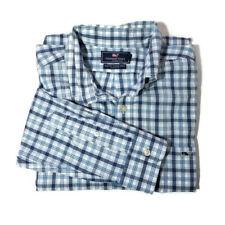 Vineyard Vines  Size Large Mens Shirt Slim Cotton Checkered Blue