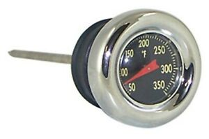 V-Factor Black Face Oil Temperature Gauge Dipstick Softail 84-99 Sportster 82-03