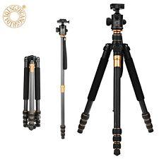 Q-999C Pro Carbon Fiber Tripod Monopod & BallHead Compact Travel For DSLR Camera