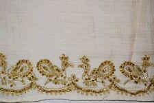Peacock Dgn Indian 100% Pure Silk Sari Zardozi Embroidered Saree Ethnic Sarong
