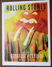 THE ROLLING STONES - 14 ON FIRE - ROSKILDE FESTIVAL - DENMARK - #396/500 -POSTER