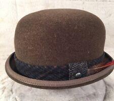"""New KANGOL """"ESTATE BOWLER""""  K5011HT Men's Bowler Hat 100% Wool Brown Medium"""