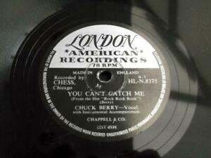 "CHUCK BERRY YOU CAN'T CATCH ME 1957 UK PRESS 10"" 78 RPM RECORD EX/EX"