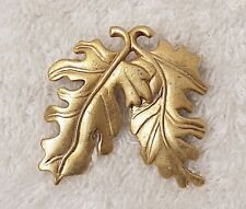 Fern Frond Maple Aspen Shrub Fore Vl-An Vintage Repro Pin Brooch Plant Leaf Tree