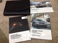 BMW 5 SERIES SALOON  OWNERS MANUAL HANDBOOK 2012-2015 inc navigation