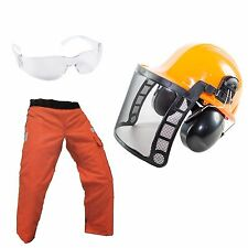 WoodCutters Chain Saw Safety Kit w/ Chaps, Safety Helmet, Glases, Ear Muffs