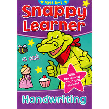 SNAPPY LEARNER HANDWRITING EDUCATIONAL SCHOOL BOOK & REWARD CHART FOR AGE 5-7