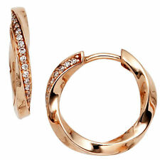 Echter Ohrschmuck im Creole-Stil mit Diamant für Damen