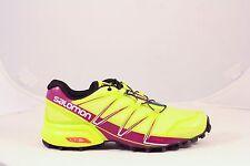 Salomon Womens Speedcross Pro Trail Running Shoes GeckoGreen/MystPurp/White SZ 7